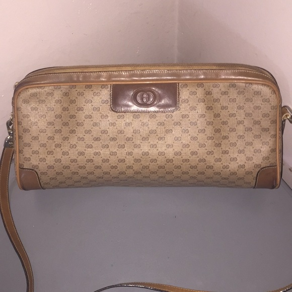 c4560b98e00239 Gucci Bags | Vintage Purse Shoulder Bag Gg Brown Leather | Poshmark